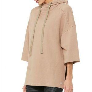 Women's ALO Falls Short Sleeve Pullover Hoodie